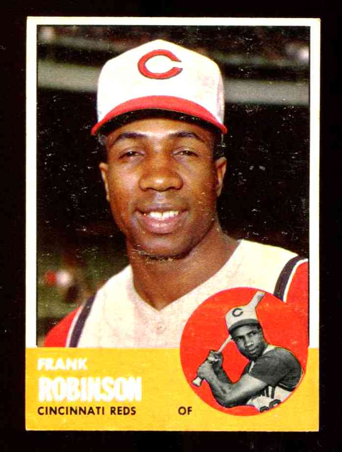 1963 Topps #400 Frank Robinson [#x] (Reds) Baseball cards value