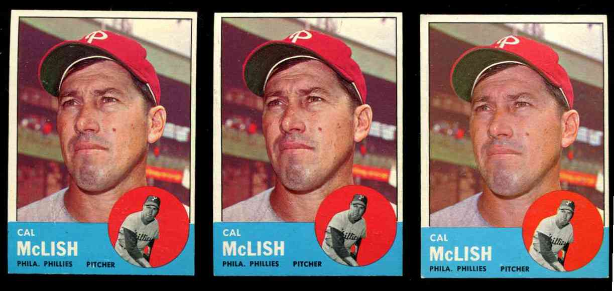 1963 Topps #512 Cal McLish SCARCEST MID SERIES (Phillies) Baseball cards value