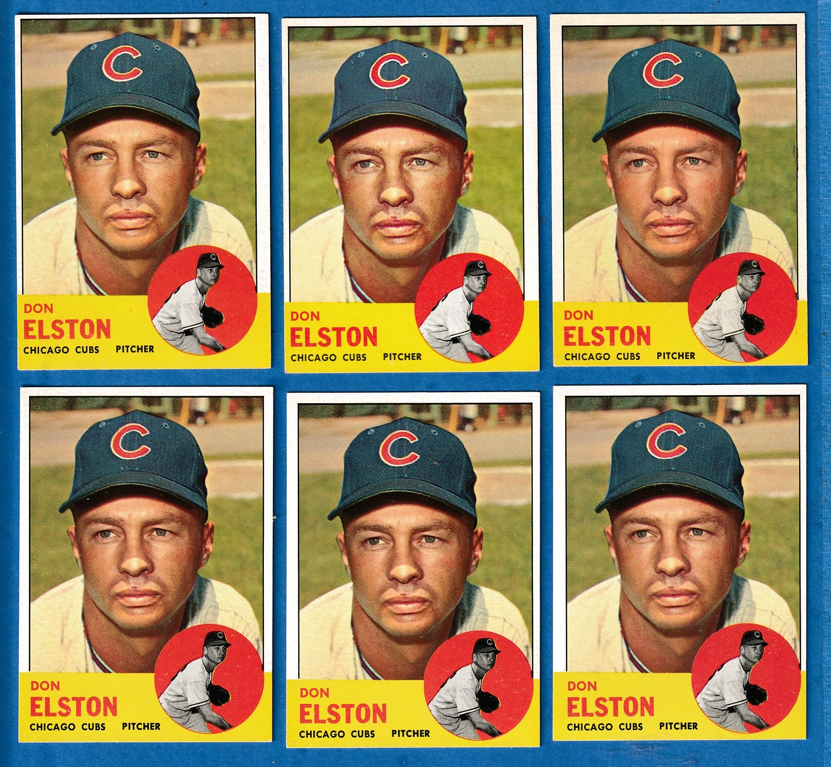 1963 Topps #515 Don Elston SCARCEST MID SERIES (Cubs) Baseball cards value