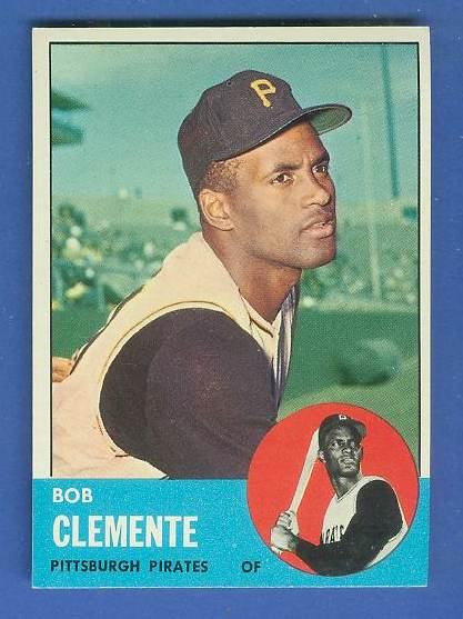 1963 Topps #540 Roberto Clemente [#b] SCARCE HIGH SERIES (Pirates) Baseball cards value