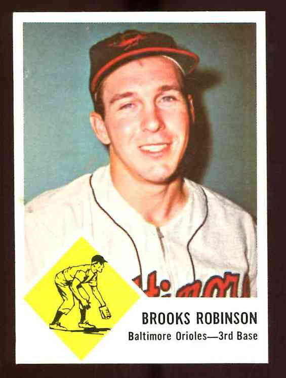 1963 Fleer # 4 Brooks Robinson [#c] (Orioles) Baseball cards value