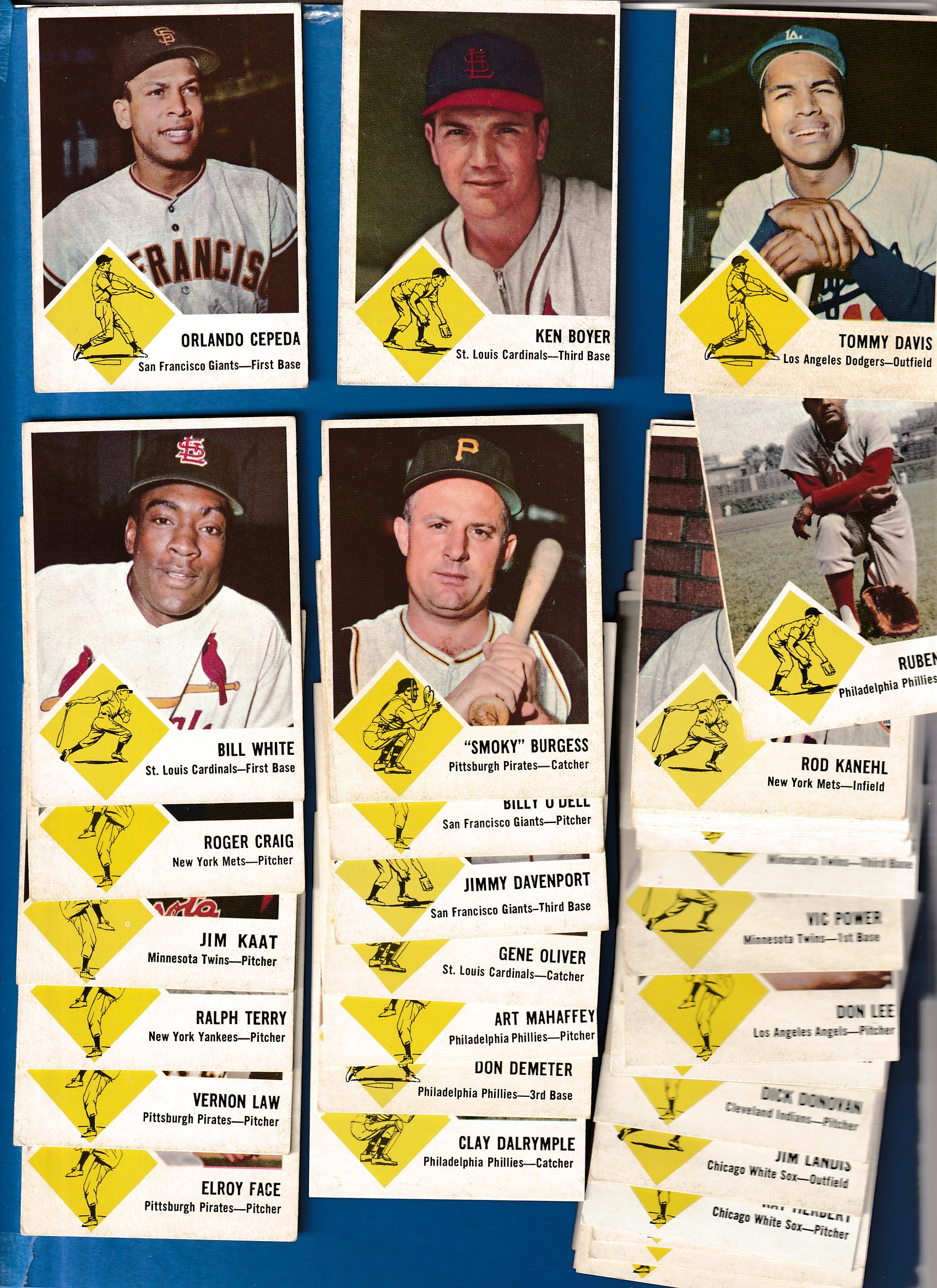 1963 Fleer   - Starter Set/Lot of (46/67) Baseball cards value