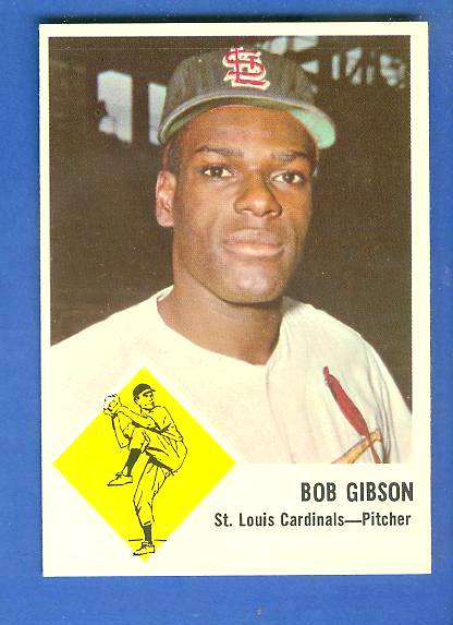 1963 Fleer #61 Bob Gibson (Cardinals) Baseball cards value