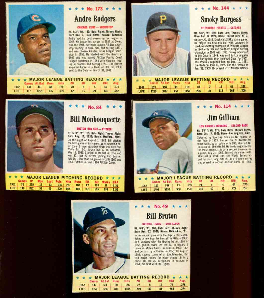 1963.Jello #173 Andre Rodgers SHORT PRINT (Cubs) Baseball cards value