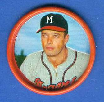 1963 Salada Coins #.28 Eddie Mathews [#a] Baseball cards value