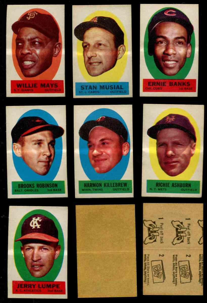 1963 Topps Peel-Offs 'Blank-Back' - Harmon Killebrew (Twins) Baseball cards value