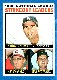 1964 Topps #  5 N.L. Strikeout Leaders (Sandy Koufax/Don Drysdale)