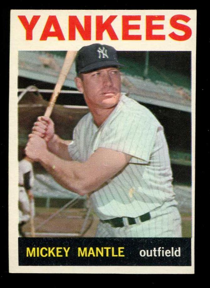 1964 Topps # 50 Mickey Mantle (Yankees) Baseball cards value