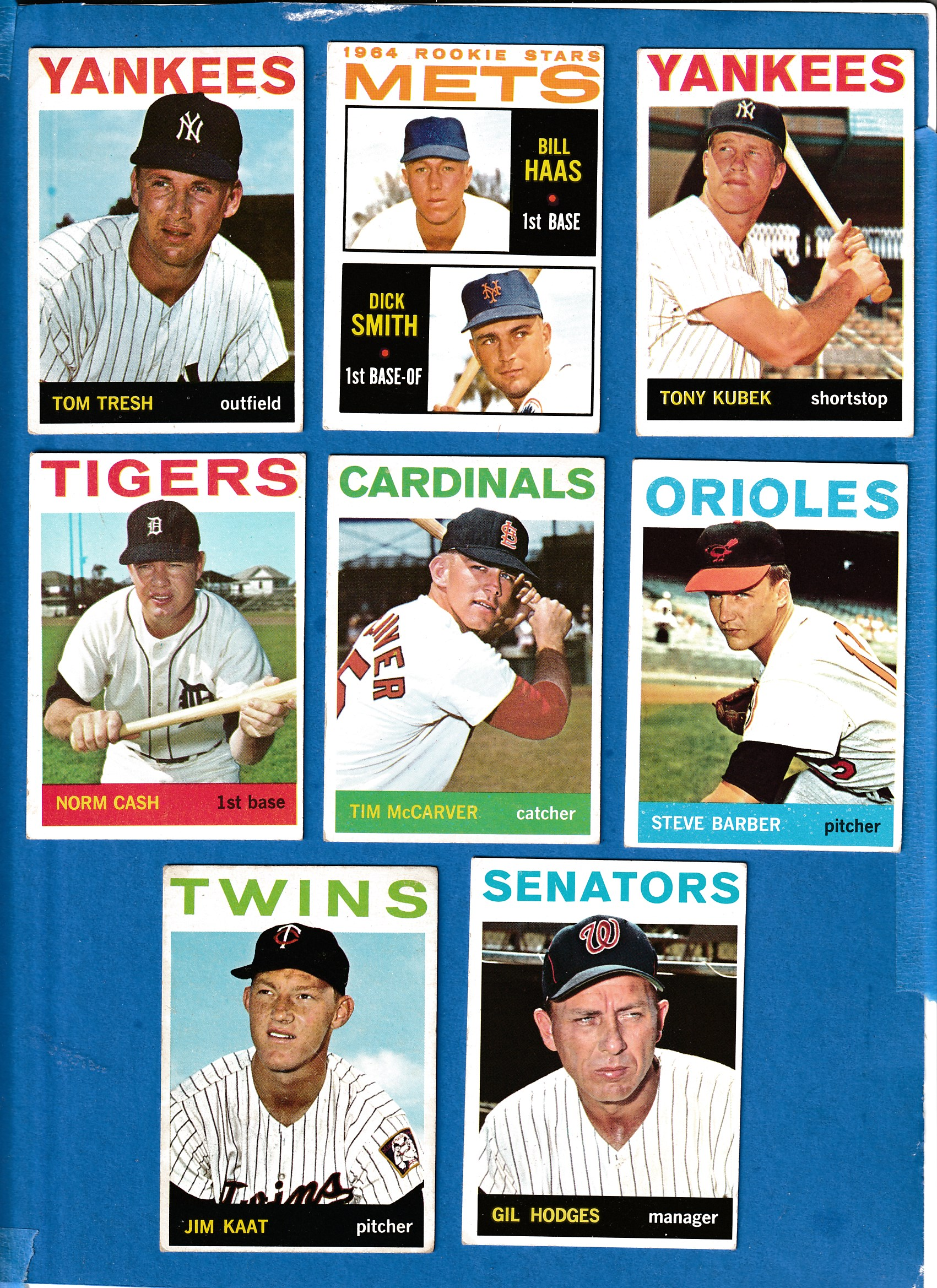 1964 Topps #547 Gil Hodges MGR SCARCE SHORT PRINT [#z] (Washington Senators Baseball cards value