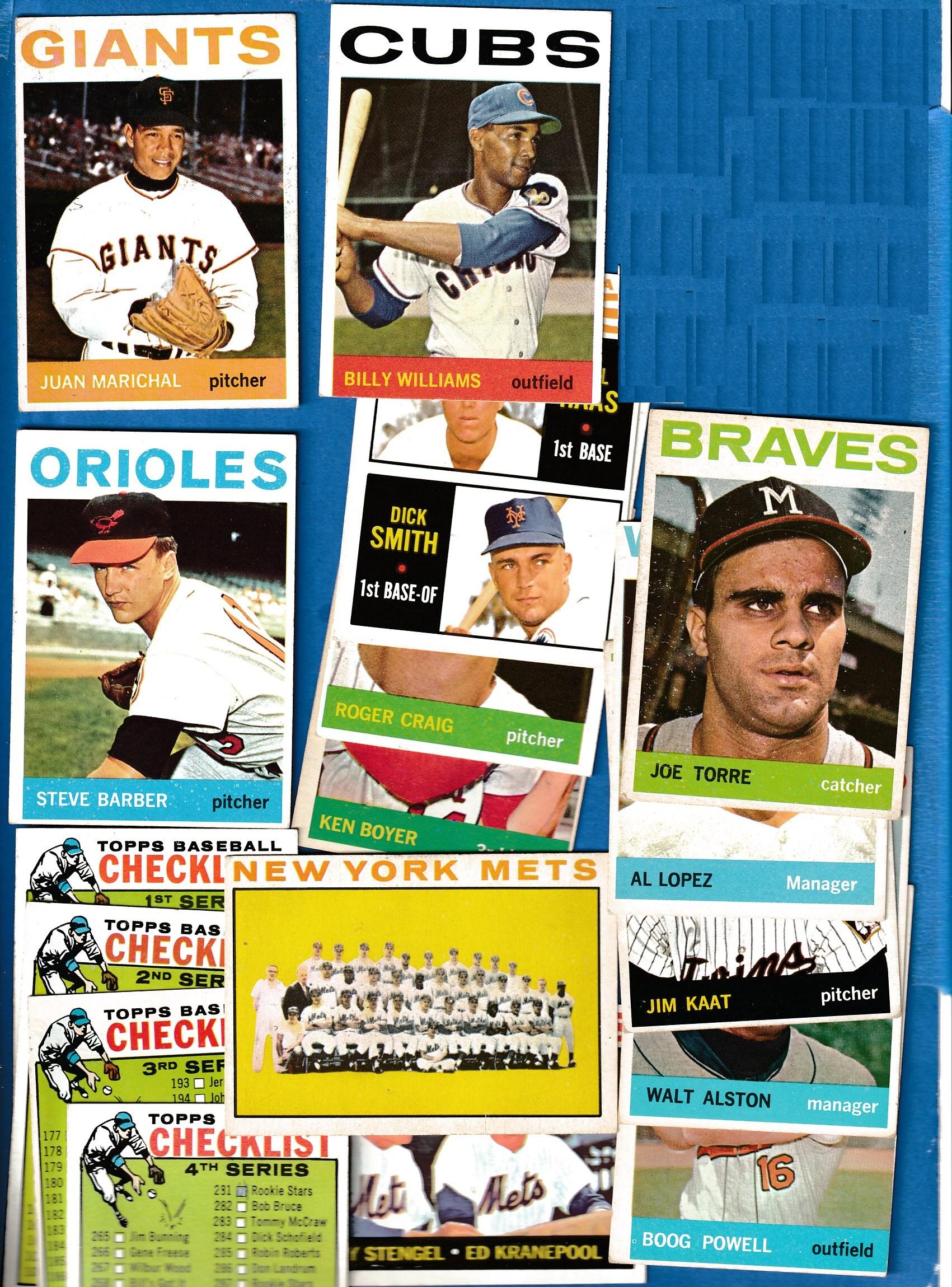 1964 Topps Starter Setlot 310 Whall Of Famershisteam Cards