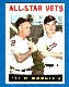 1964 Topps # 81 'All-Star Vets' [#a] (Nellie Fox/Harmon Killebrew)