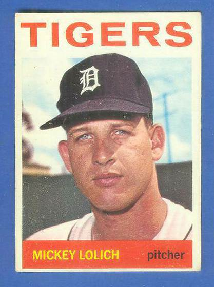 1964 Topps #128 Mickey Lolich ROOKIE [#bsc] (Tigers) Baseball cards value