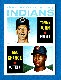 1964 Topps #146 Tommy John ROOKIE w/Bob Chance [#a] (Indians)