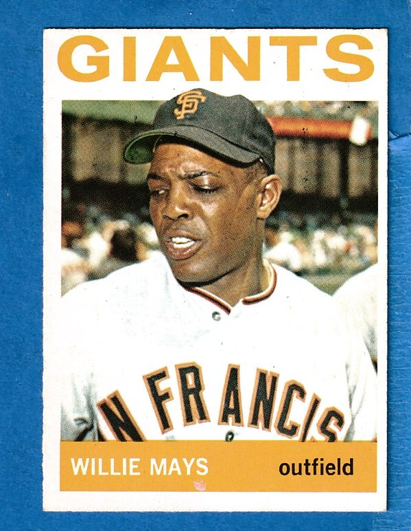 1964 Topps #150 Willie Mays [#a] (Giants) Baseball cards value