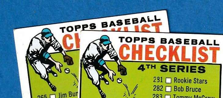 1964 Topps #274B Checklist #4 [VAR:GREEN between legs] Baseball cards value