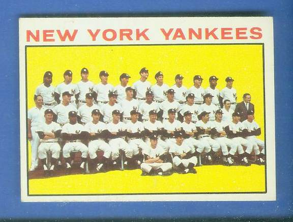 1964 Topps #433 Yankees TEAM card [#a] Baseball cards value