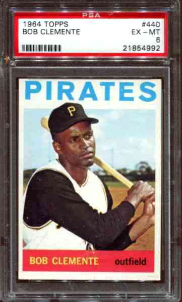 1964 Topps #440 Roberto Clemente [#PSA] (Pirates) Baseball cards value