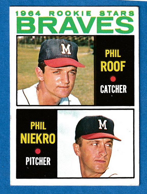 1964 Topps #541 Phil Niekro ROOKIE SCARCE SHORT PRINT (Braves) Baseball cards value