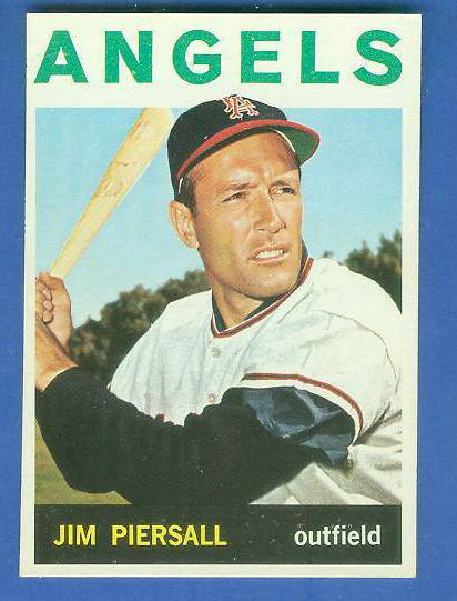 1964 Topps #586 Jimmy Piersall SCARCE SHORT PRINT [#c] (Angels) Baseball cards value