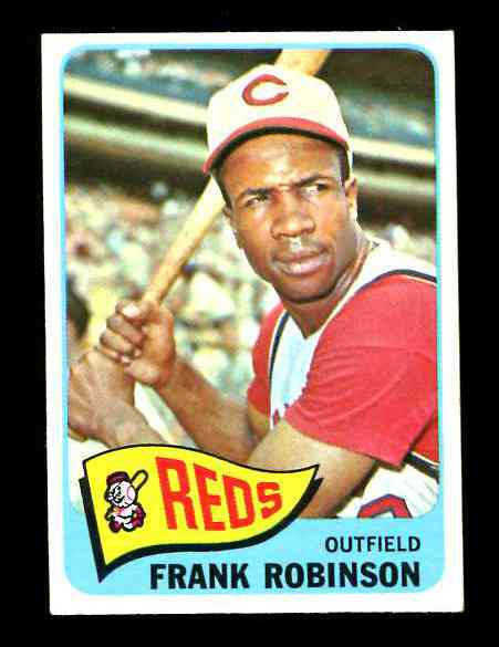 1965 Topps #120 Frank Robinson [#a] (Reds) Baseball cards value