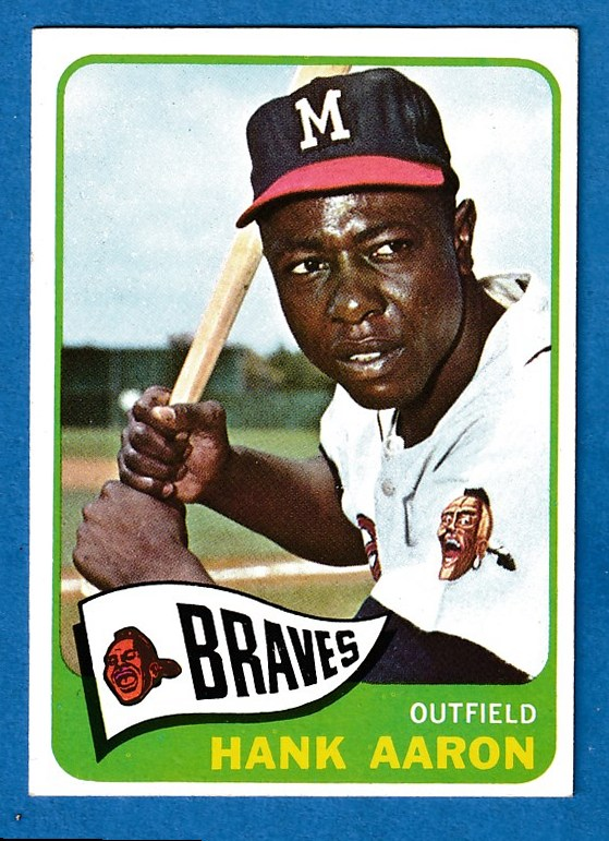 1965 Topps #170 Hank Aaron [#asc] (Braves) Baseball cards value
