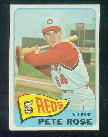 1965 Topps #207 Pete Rose [#a] (Reds) Baseball cards value