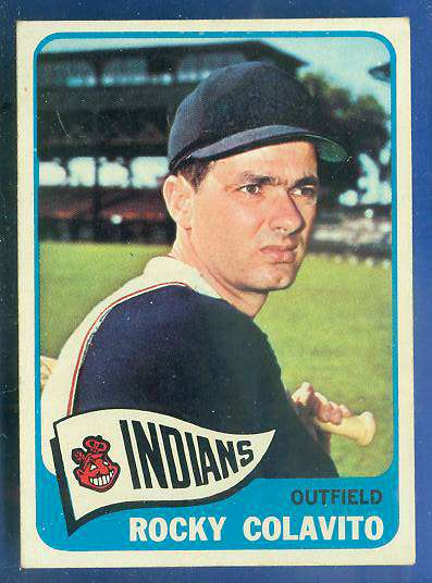 1965 Topps #380 Rocky Colavito [#b] (Indians) Baseball cards value