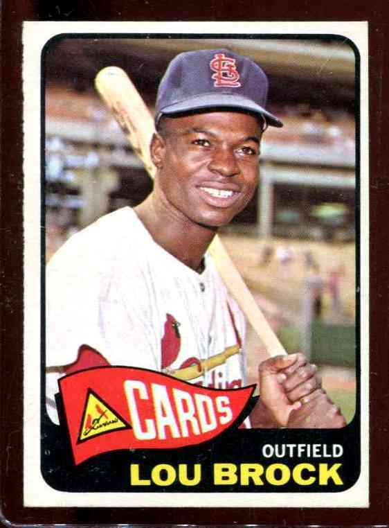 1965 Topps #540 Lou Brock SHORT PRINT [#a] (Cardinals) Baseball cards value