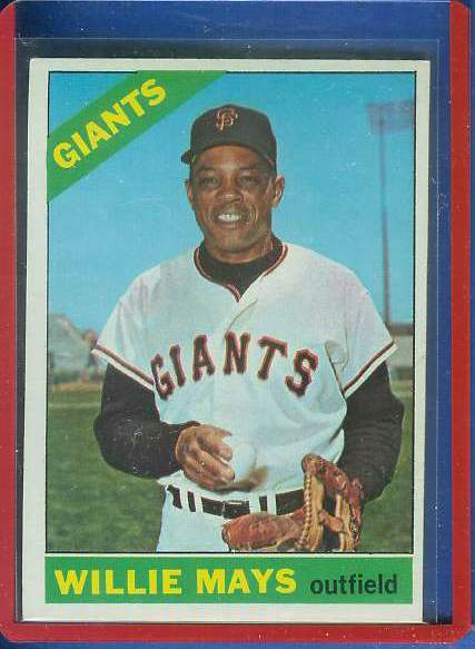 1966 Topps #..1 Willie Mays [#b] (Giants) Baseball cards value