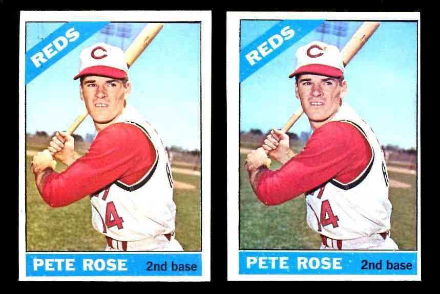 1966 Topps #.30 Pete Rose [#a] (Reds) Baseball cards value