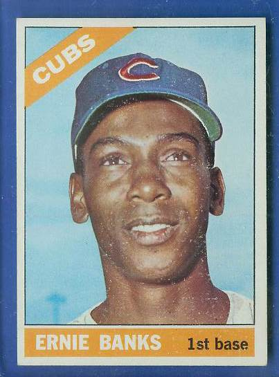 1966 Topps #110 Ernie Banks [#a] (Cubs) Baseball cards value