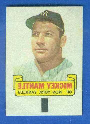 1966 Topps RUB-OFFS #.57 Mickey Mantle Baseball cards value