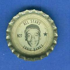 1967 Coke Fresca Cap #N27 Ernie Banks All-Star (Cubs) Baseball cards value