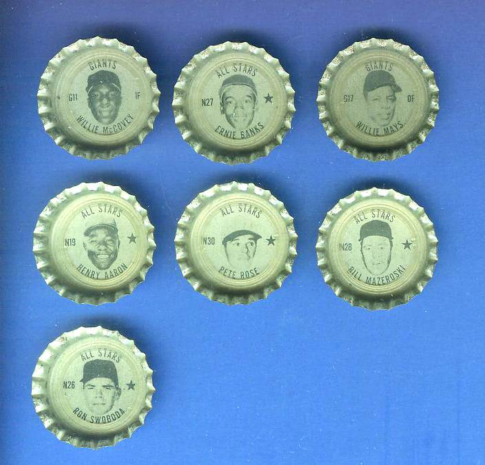 1967 Coke Cap #N30 Pete Rose All-Stars (Reds) Baseball cards value