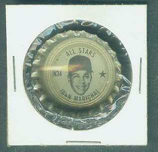 1967 Coke Fresca Cap #N34 Juan Marichal All-Star (Giants) Baseball cards value