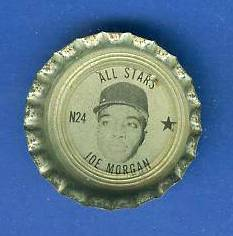 1967 Coke Fresca Cap #N24 Joe Morgan All-Star (Astros) Baseball cards value