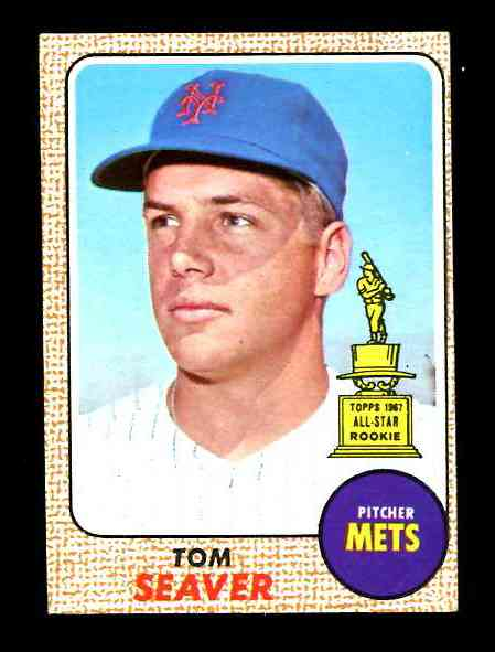1968 Topps #.45 Tom Seaver [#asc] (Mets,2nd year card) Baseball cards value