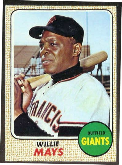 1968 Topps # 50 Willie Mays [#a] (Giants) Baseball cards value