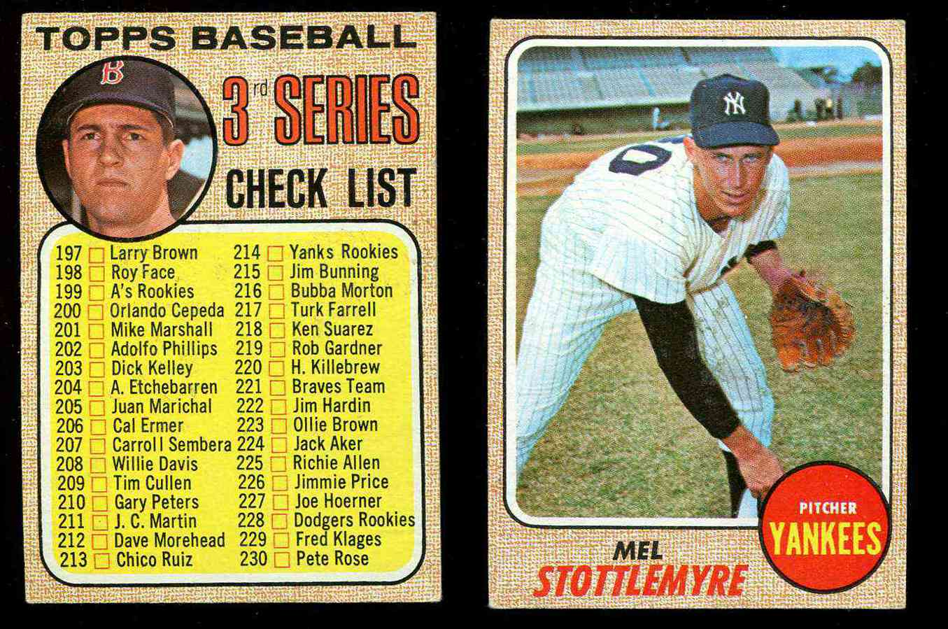 1968 Topps Baseball Cards Set Checklist Prices Values