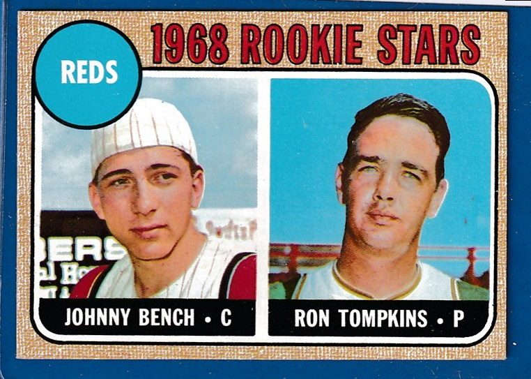 1968 Topps #247 Johnny Bench ROOKIE (Reds) Baseball cards value