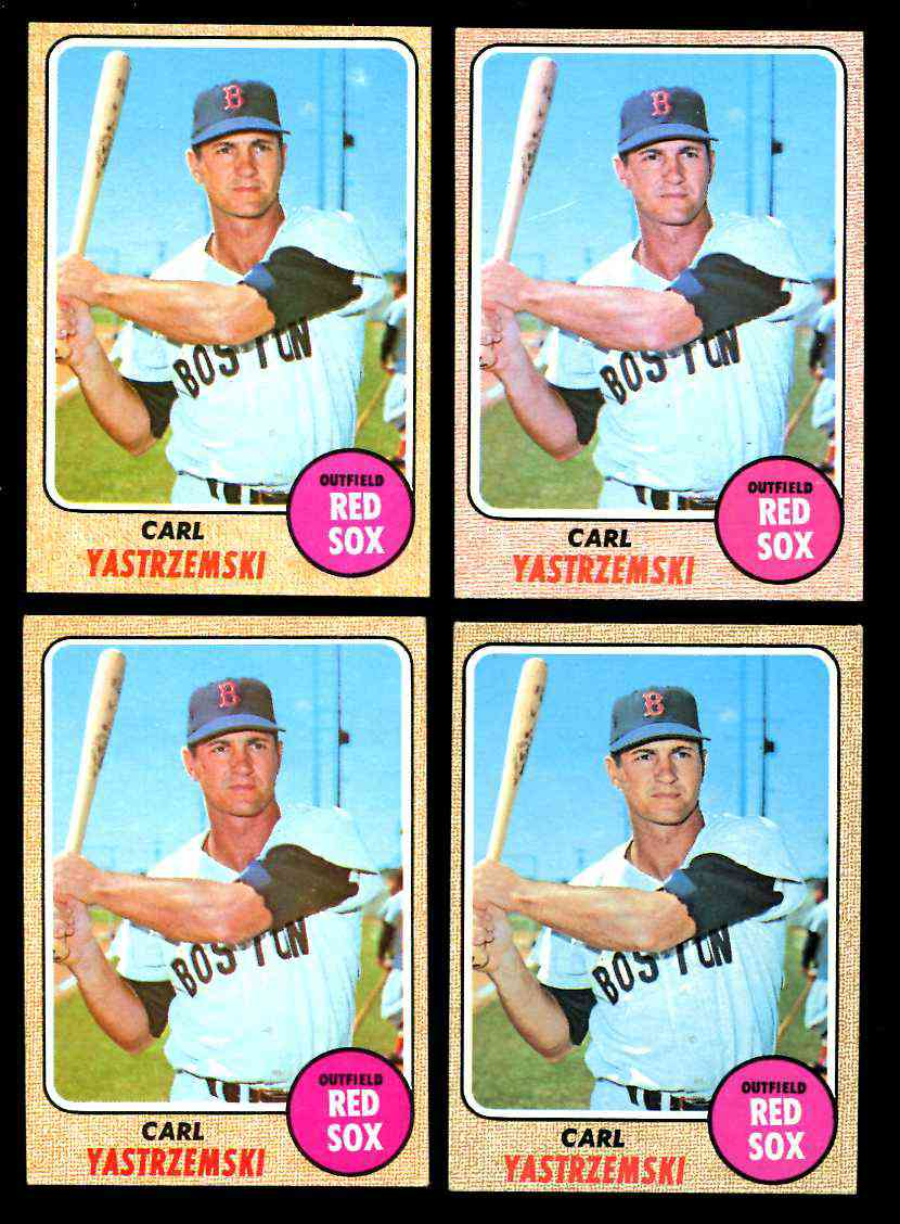 1968 Topps #250 Carl Yastrzemski [#c] (Red Sox) Baseball cards value