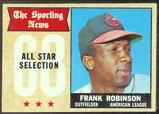 1968 Topps #373 Frank Robinson All-Star (Orioles) Baseball cards value