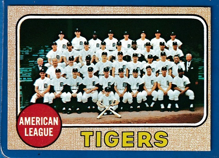 1968 Topps #528 Tigers TEAM card [#a] Baseball cards value