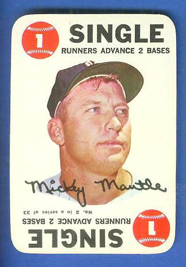 1968 Topps GAME #.2 Mickey Mantle (Yankees) Baseball cards value