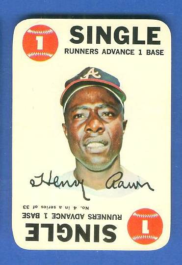 1968 Topps GAME #.4 Hank Aaron (Braves) Baseball cards value