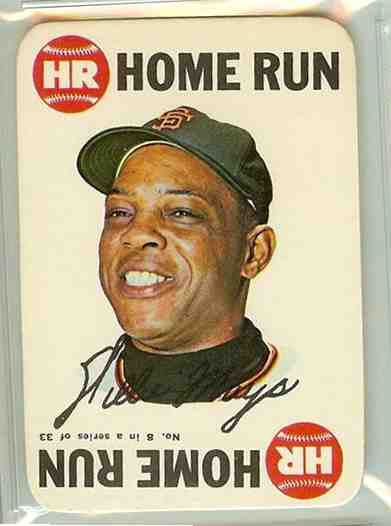 1968 Topps GAME #.8 Willie Mays (Giants) Baseball cards value