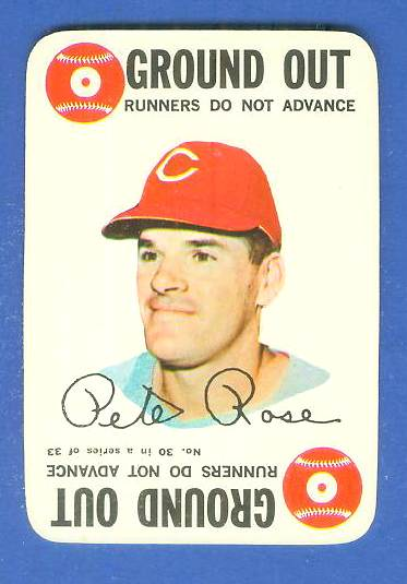 1968 Topps GAME #30 Pete Rose (Reds) Baseball cards value