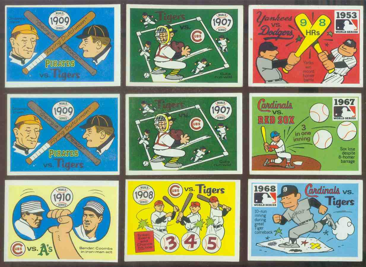 1968 Laughlin World Series #.6 1909 Pirates/Tigers (Ty Cobb/Honus Wagner) Baseball cards value