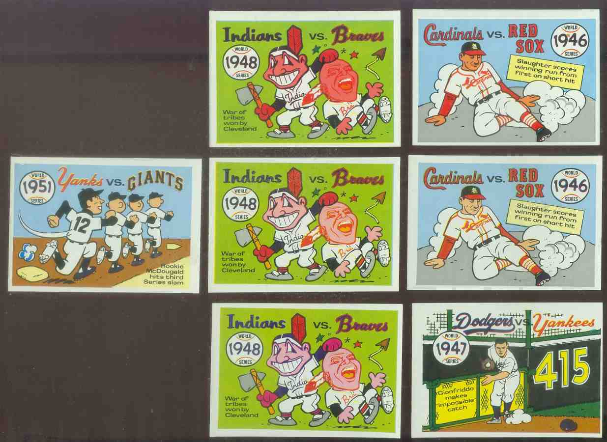 1968 Laughlin World Series #48 1951 Yankees/Giants Baseball cards value