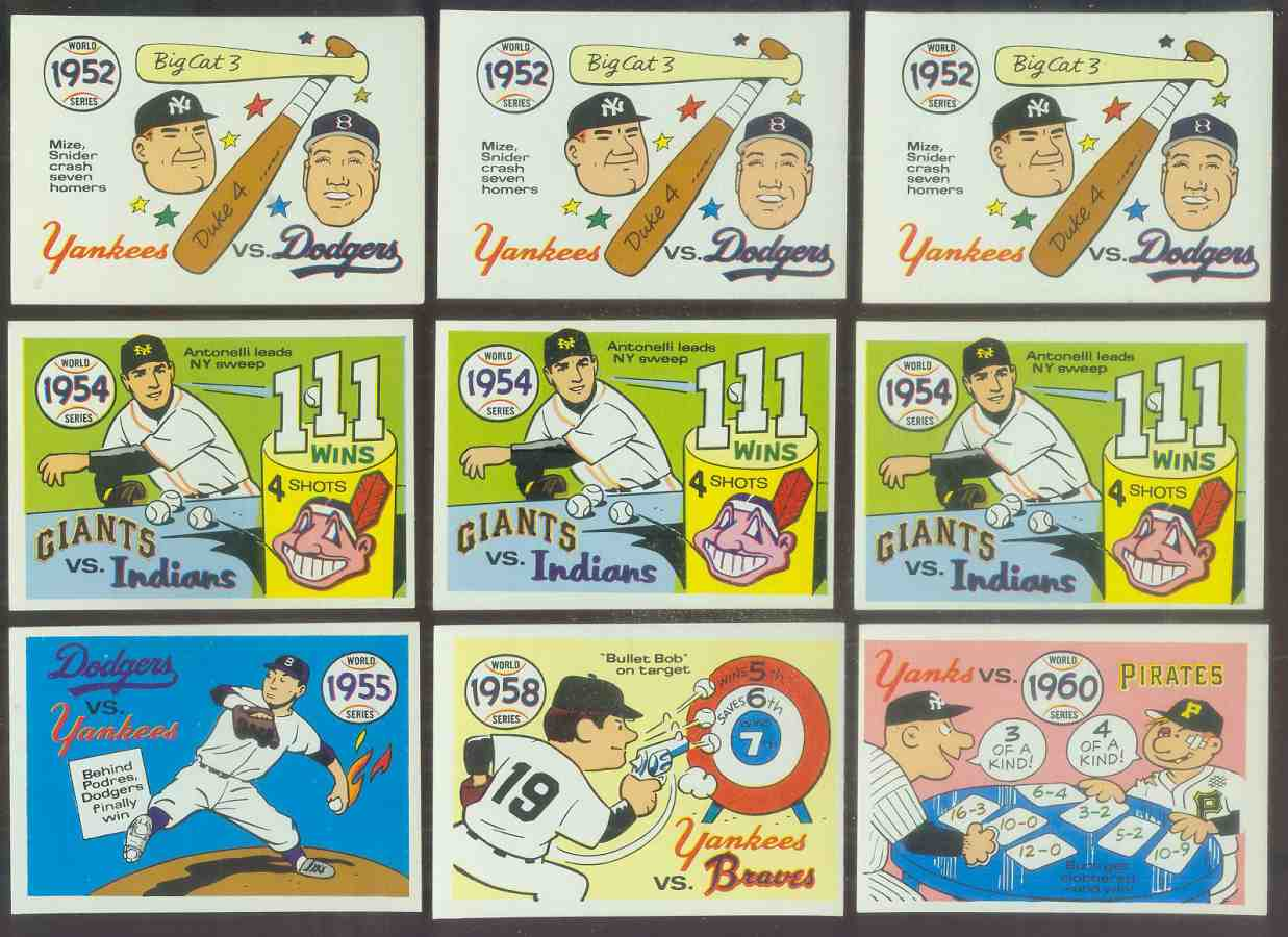 1968 Laughlin World Series #52 1955 Dodgers/Yankees (Johnny Podres) Baseball cards value